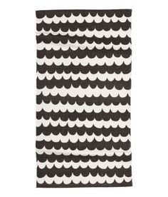 Patterned Cotton Rug, Charcoal Gray and White