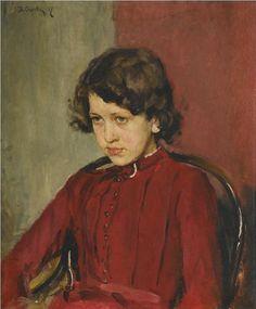 The Athenaeum - Portrait of Praskovia Mamontova (Valentin Serov - )