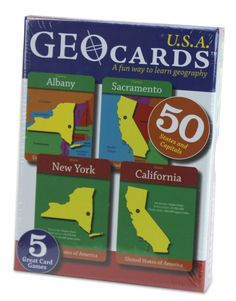 GeoCards USA Educational Geography Card Game