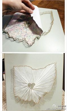 Map + Pins + String = Very cool art project :)