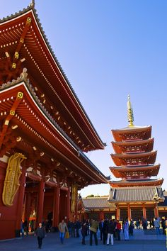 Sensō-ji Temple – found in Asakusa, Tokyo. One of the largest, but also the oldest temple in Japan.