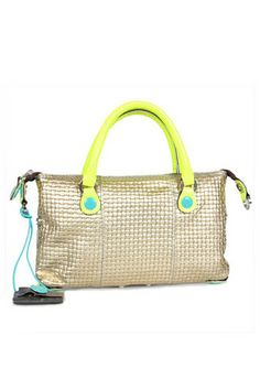 bd5bf47d556 G3 SERA Gabs handbag Silver and Neon Yellow - The G3 Gabs bags design has a