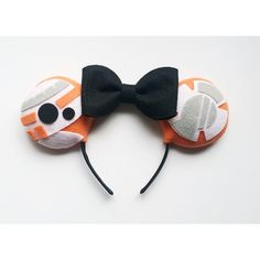 BB 8 themed Minnie Ears by ComicGeekOut on Etsy