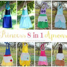 8 in 1 Princess Apron Tutorial
