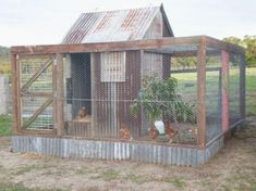 FEATURE BRIDGE  Constructed using a steel base with Treated Pine stained with a waterproof oil. DUCK PEN Custom built Duck Pen, with internal walls separating the building into three areas. Chicken Shed, Portable Chicken Coop, Chicken Coup, Best Chicken Coop, Backyard Chicken Coops, Chicken Coop Plans, Building A Chicken Coop, Chickens Backyard, Chicken Houses