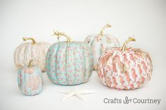 Mod Podge Costal Pumpkins submitted to InspirationDIY.com