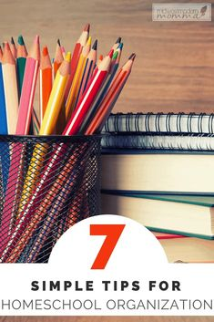 Here are 7 Simple Homeschool Organizing Tips to help you beat the overwhelming urge to throw in the towel on the tough days. School Organization, Organization Hacks, Curriculum Planning, Homeschooling Resources, Throw In The Towel, Tough Day, Letter Recognition, Teaching Tools, Teaching Ideas