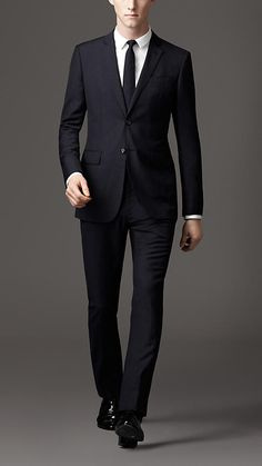 Navy grey Slim Fit Silk Wool Suit - Image 1 | Style | Pinterest ...