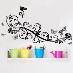 Butt Vine Wall Decal