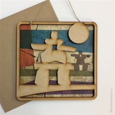 Inukshuk - Greeting Card/Wall Art by Shirley Lloyd-Davies, Dundee Designs Inc. Dundee, Customizable Gifts, Poly Bags, Kraft Envelopes, Note Cards, Fathers Day, Card Ideas, Greeting Cards, Wall Art