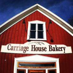Bakery building Carriage House, Bakery, Garage Doors, Shed, Outdoor Structures, Building, Outdoor Decor, Home Decor, Decoration Home