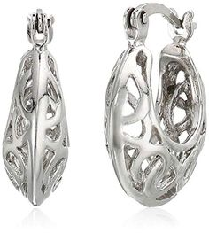 0b3dbc9dc5 Sterling Silver Filigree Small Hoop Earrings These petite and charming  graduated round hoops have been beautifully