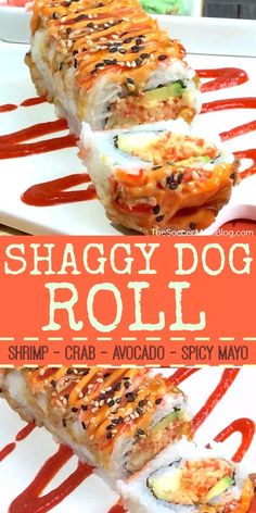 The Shaggy Dog Roll is a sushi restaurant classic — crispy, creamy, a little bit spicy, and a whole lot of flavor! Here's how to make this maki at home. - Shaggy Dog Roll Sushi (How to Make it at Home!