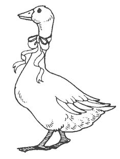 goose with ribbon printable animal coloring pages printable and coloring book to print for free. Find more coloring pages online for kids and adults of goose with ribbon printable animal coloring pages to print. Animal Coloring Pages, Coloring Pages For Kids, Coloring Books, Printable Coloring Pages, Animal Sketches, Animal Drawings, Vintage Floral Wallpapers, Animal Templates, Printable Animals