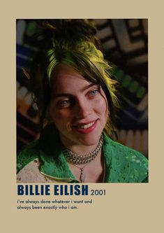Billie Eilish, Kids Poster, Poster Wall, Wallpeper Tumblr, Posters Harry Potter, Maya, Room Posters, Music Posters, Aesthetic Indie