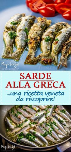 A Venetian recipe that can be made both with lemon and . A Venetian recipe that can be made both with lemon and with vinegar. Fish Dishes, Seafood Dishes, Fish And Seafood, Seafood Recipes, Chicken Recipes, Cooking Recipes, Healthy Recipes, Whole Fish Recipes, Greek Recipes