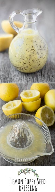 Lemon Poppy Seed Dressing gives a pop of healthy flavor to so many different foods, salads are only the beginning! ~ theviewfromgreatisland.com