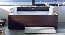 Sundeck Duravit - Living bathrooms. Founded in 1817, Duravit is a leading supplier of Bathroom Sanitary Ceramic, Washbasins, Toilets, Bidets, Urinals, Tubs, Multi-functional Showers, Bath Furniture, Vanity Basins, Accessories and wellness ideas.