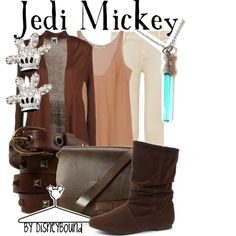 Jedi Mickey, created by lalakay on Polyvore