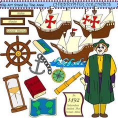 Clip Art Christopher Columbus Clipart vintage original black ink drawing sailing ship nina christopher you dont have to sail half way around the world discover educational clip art explore this columbus s