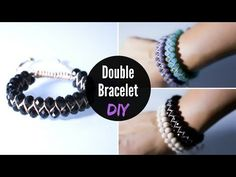 DIY Double Bracelet with Crystal Beads | Διπλό Βραχιόλι με Κρύσταλλα | Jewelry | IMAGINE HEARTS - YouTube