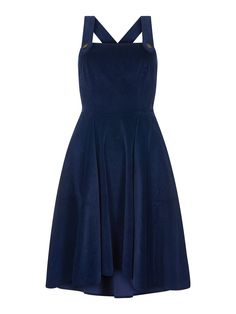 Navy Odette Dress - Bright & Beautiful from Collectif UK