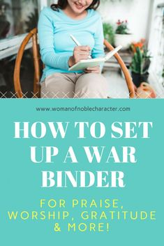 How to set up a war binder. My step by step process for setting up and personalizing my war binder for praise, gratitude, prayer and journaling Christian Faith, Christian Quotes, Christian Women, Christian Living, Prayer For Peace, Prayer Room, Prayer Closet, Faith Goals, Spiritual Warfare