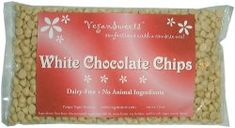 I WAS thinking about making my own vegan white chocolate chips, but my friend just bought these and said they are killer in baked goods. Totally worth it.