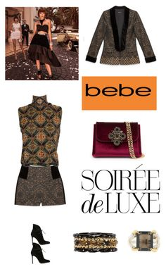 """""""Chic Night with bebe Holiday"""" by is-tanja-ti ❤ liked on Polyvore featuring Bebe, Gianvito Rossi, Tessa Metcalfe, Ashley Pittman, NightOut, fashionset, holidaystyle and fallwinter2015"""