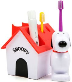 Snoopy battery-powered toothbrush.  I had one of these, and thought it was the coolest thing ever.