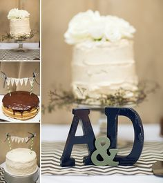 DIY wedding cakes with themes from different parts of the couple's lives | Allie & Dylan's DIY Washington DC wedding at Stroga | Images: Aimee Custis Photography
