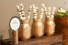 """birch sticks"" - woodland themed snacks"