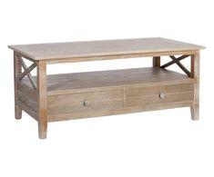 Mesa de centro en madera de paulonia Erwan Decoration, Entryway Bench, Farmhouse Decor, Furniture, Paulownia, Hanna, Home Decor, Boutique, Coffee Tables