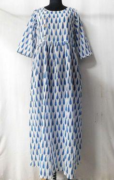 2ff4a03d83bf Indian Ethnic Women Wear Long Tunic Floral Print Kurti Side Button Casual  Dress  fashion