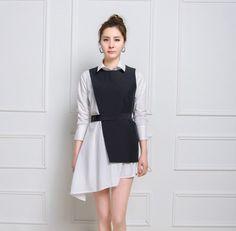 New korean fashion dress designer selection Korean Fashion Street Casual, Korean Fashion Dress, Korean Fashion Casual, Hijab Fashion, Fashion Dresses, Fashion Tips, Street Jeans, Mode Kpop, Fashion Sewing