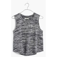MADEWELL Space-Dyed Tank Top ($50) ❤ liked on Polyvore featuring tops, night vision, madewell tank, madewell, stretchy tops and stretch tank top