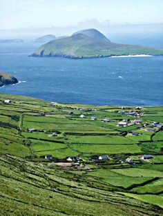 Ireland and Peg's Cottage ♥ This is a view of Great Blasket Island from the Dingle peninsula.