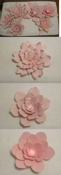 Paper crafts 160666 large paper flowers wedding flowers photo paper crafts 160666 large paper flowers for weddings bridal baby shower backdrop 6 plus mightylinksfo