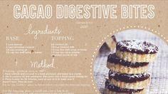 Cacao digestive bites