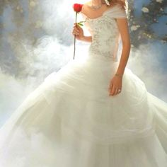 Beauty and the Beast inspired wedding dress! <3