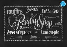 'Chalkboard Pastry Shop' (Wall Mural).