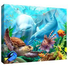 ArtWall 'Seavilian' by Jerry Lofaro Graphic Art on Wrapped Canvas Size:
