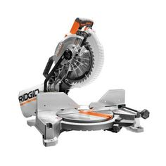 RIDGID 15 Amp 10 in. Dual Bevel Miter Saw with Laser-R4112 - The Home Depot
