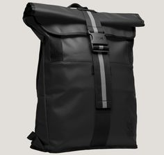 chrome bag Backpacks - District - Features: Weatherproof rolltop with ballistic nylon bottom panel Weatherproof roll top opening for increased security and expandability Built-in laptop sleeve fits up to Macbook Pro 15 (padded sleeve recommended) Industrial strength Velcro accessory shoulder mounting straps Organization pockets for smartphone, and personal items Internal d-ring key loop