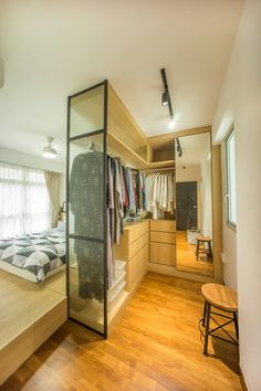 Love the layout except the bed has to face the windows
