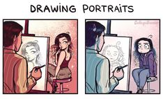 Drawing Courses: Expectation vs Reality by C-Cassandra casandra Comics Drawing Courses: Expectations VS Reality Cute Comics, Funny Comics, C Casandra Comics, Bd Cool, Archie Comics, Cassandra Calin, Anime Comics, Artist Problems, Drawing Course