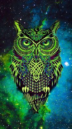Owl galaxy cute Owl in 2019 Owl wallpaper, Cute owls
