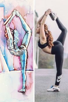 How to add charcoal to negative watercolour yoga paintings for deeper shadows - the art of flying Aerial Classes, Yoga Painting, Pastel Pencils, Online Yoga, Chalk Pastels, Yoga Retreat, Brush Pen, How To Do Yoga, Diy Art