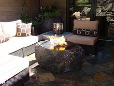 Black Magic Polished Top Fire Rock Outdoor Fire, Outdoor Living, Outdoor Decor, Outdoor Ideas, Fire Rocks, Contemporary Decor, Backyard Patio, Fountain, Black Magic