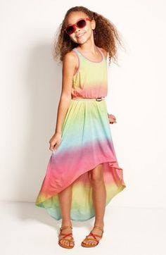 Fire Tie Dye Dress & Accessories (Little Girls & Big Girls)  available at #Nordstrom